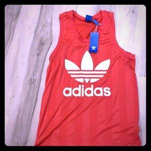 Adidas hot pink tank top.  Size S
